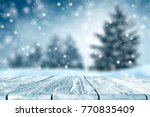 table background and winter... | Shutterstock . vector #770835409