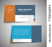modern simple business card set ... | Shutterstock .eps vector #770836894