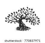 huge and sacred oak tree... | Shutterstock .eps vector #770837971