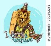 hand drawn vector print i love... | Shutterstock .eps vector #770843251