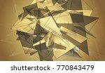 beautiful gold illustration...   Shutterstock . vector #770843479