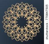 laser cutting mandala. golden... | Shutterstock .eps vector #770847505