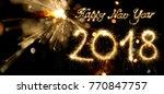 Sparkler Happy New Year 2018