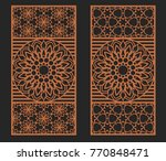 laser cutting set. wall or... | Shutterstock .eps vector #770848471