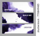 banners with abstract ultra... | Shutterstock .eps vector #770849485