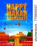 happy makar sankranti religious ...   Shutterstock .eps vector #770850037