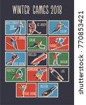 winter sport games original... | Shutterstock .eps vector #770853421