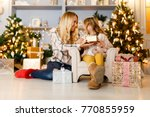 new year's picture of mother... | Shutterstock . vector #770855959