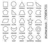 basic geometric shapes. advance ... | Shutterstock .eps vector #770856721