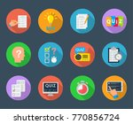 mind games and quiz set.... | Shutterstock .eps vector #770856724