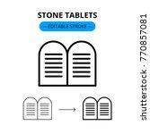 stone tablets jewish vector... | Shutterstock .eps vector #770857081