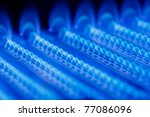 Blue Flames Of A Gas Burner...