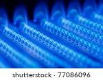 blue flames of a gas burner... | Shutterstock . vector #77086096