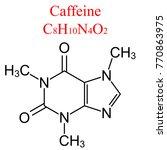 2d structure of caffeine   ... | Shutterstock .eps vector #770863975