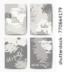 set of art postcards  modern... | Shutterstock .eps vector #770864179