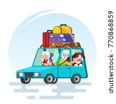 travel in old age flat design.... | Shutterstock .eps vector #770868859