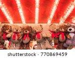 stuffed toy bears on display... | Shutterstock . vector #770869459