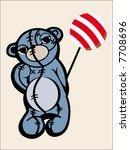 sad teddy | Shutterstock .eps vector #7708696