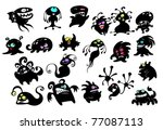 lots of funny monsters | Shutterstock .eps vector #77087113