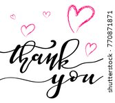 hand sketched thank you text as ... | Shutterstock .eps vector #770871871