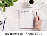 to do list written in a... | Shutterstock . vector #770875744