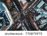 city district from above  car... | Shutterstock . vector #770875975