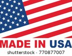made in usa flag design | Shutterstock .eps vector #770877007