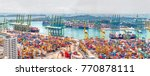 Small photo of SINGAPORE, SINGAPORE - FEBRUARY 18, 2017: Singapore commercial port in Singapor. It's the world's busiest port in terms of total shipping tonnage.