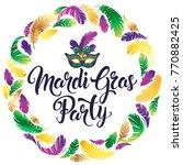 mardi gras mask  colorful... | Shutterstock . vector #770882425