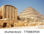 ancient step pyramid of djoser  ...   Shutterstock . vector #770883934
