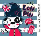 cartoon british royal guard dog ... | Shutterstock .eps vector #770885311