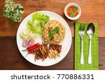 insect food   bamboo worm fried ... | Shutterstock . vector #770886331