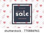 valentine's day sale poster ...   Shutterstock .eps vector #770886961