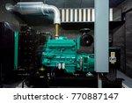 generator room emergency power... | Shutterstock . vector #770887147