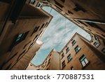 courtyard house bottom view   Shutterstock . vector #770887531