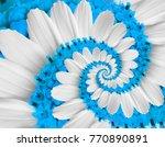 tender white blue flower swirl... | Shutterstock . vector #770890891