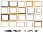set of various wide wooden... | Shutterstock . vector #770891281