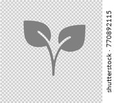 two leaves vector icon eps 10.... | Shutterstock .eps vector #770892115