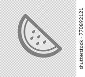 water melon slice vector icon... | Shutterstock .eps vector #770892121