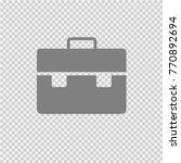 business briefcase vector icon...   Shutterstock .eps vector #770892694