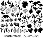 set of marine life silhouettes | Shutterstock .eps vector #770893354