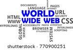 a word cloud of world wide web... | Shutterstock .eps vector #770900251