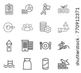 thin line icon set   report ... | Shutterstock .eps vector #770912371