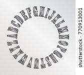 vector alphabet written in a... | Shutterstock .eps vector #770913001