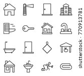 thin line icon set   home ... | Shutterstock .eps vector #770913781