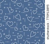 cute seamless pattern with... | Shutterstock .eps vector #770913895