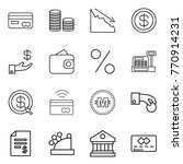 thin line icon set   card  coin ... | Shutterstock .eps vector #770914231