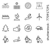 thin line icon set   bio  sun... | Shutterstock .eps vector #770917291