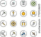 line vector icon set   push ups ... | Shutterstock .eps vector #770918605