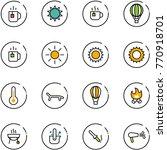 line vector icon set   tea...